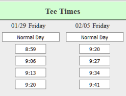 golf group tee times