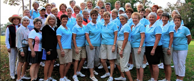 large women's  golf group